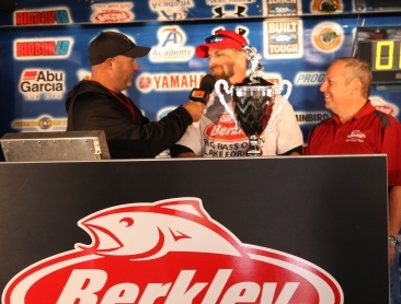 8th Annual Berkley Big Bass on Lake Fork..Randy Hooker of Navada, TX tops over 800 anglers with a 8.58 & takes home a new Skeeter ZX 200 - Yamaha 200 SHO - Minn Kota - Humminbird Rig
