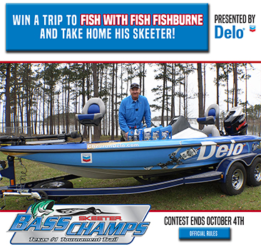 Fish with Fish and Win his Skeeter Boat sweepstakes begins today.  It's Free to enter.  You could win Fishburnes Skeeter boat and get to spend a day on the water with host of the Bass Champs Television Show.  Register Free today.