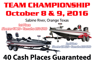 2016 Team Championship heads to Sabine River, Orange, Texas.