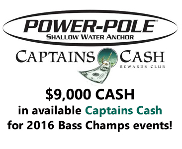 Power-Pole to offer $9000 in Bonus Cash as the Official Shallow Water Anchor of Bass Champs in 2016