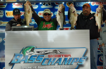 Rusty and Chris Harvey top nearly 500 anglers on Rayburn with 29.88 lbs. Wayne Triana catches a 13.43 SAL