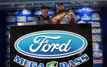 West Virginia Angler Joshua Franklin tops a record setting field over 1800 anglers at the 7th Annual Ford Mega Bass presented by Biobor event on Lake Fork with a 10.90 and takes home a new Ford F-150 and a Skeeter ZX 200-Yamaha 200 SHO-Minn-Kota-Humminbird package.