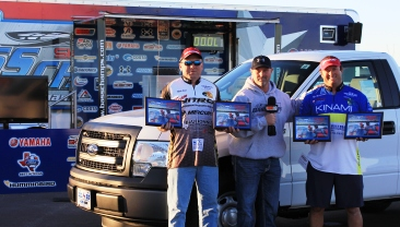Bates and Heineman top 195 teams and take home a new Ford F150 on the first event of 2014 on Amistad